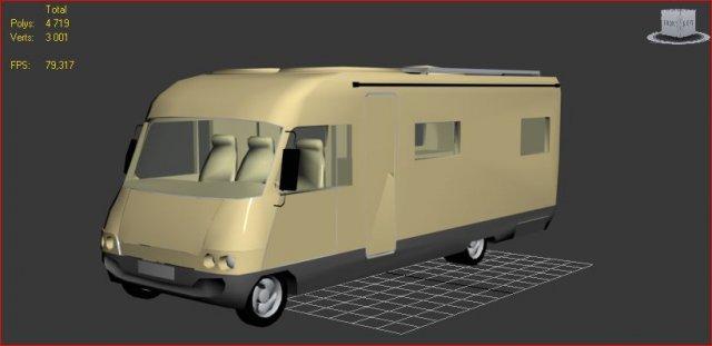 Download free Hymer Camper 3D Model
