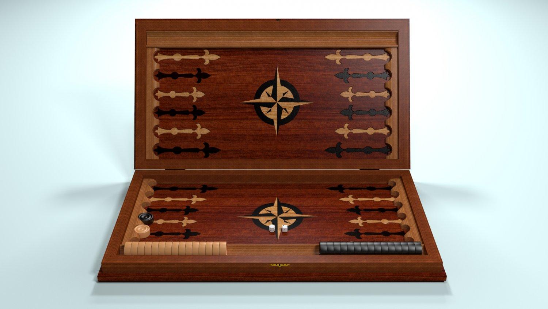 Backgammon 3D Model in Board Games 3DExport
