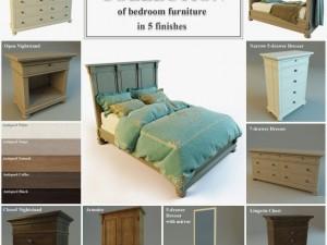 STJames Collection Of Bedroom Furniture 3D Model