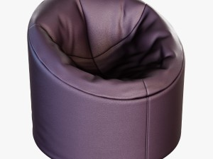 Soft brown Faux leather pouf