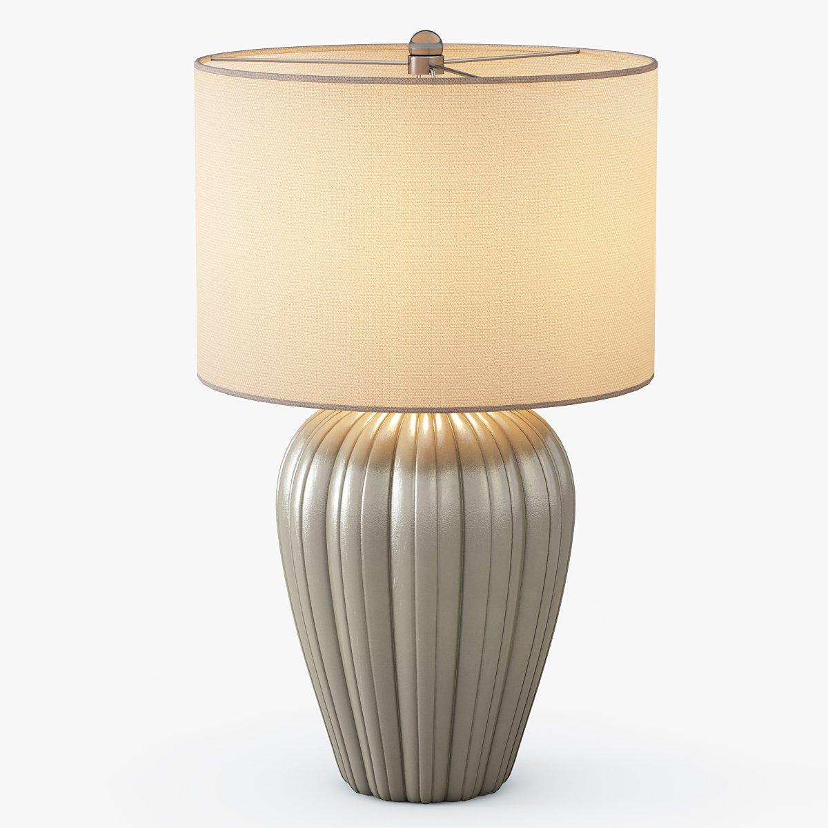Gray Brown Ceramic Table Lamp 3d Model In Table Lamps 3dexport