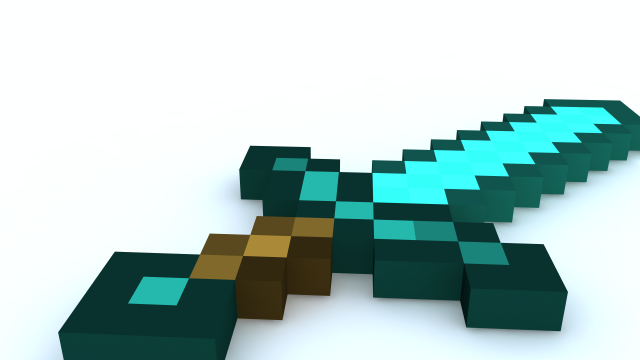 Diamond pickaxe 3d