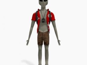 Grey Alien Tourist