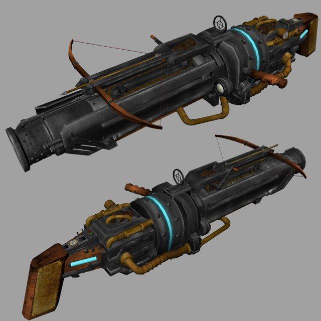Steampunk Gun 3D Model
