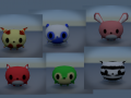 Lowpoly cute animal characters package