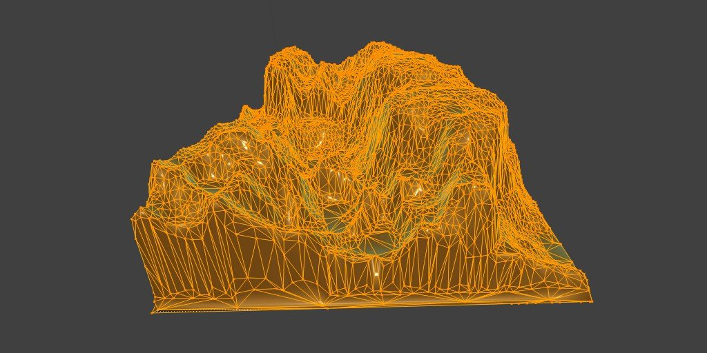 Mountains Model or Heightmap Free 3D Model in Environment 3DExport