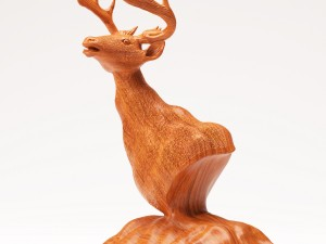Wood Statuette Proud Stag