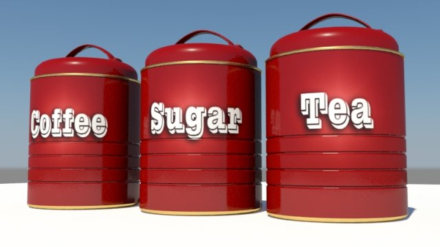 Coffee Containers 3D Model