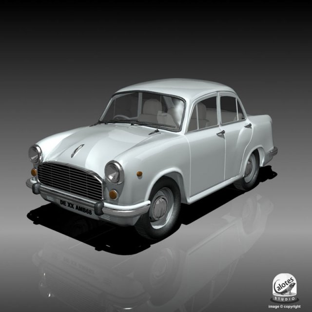 Ambassador Car 3D Model in Classic Cars 3DExport
