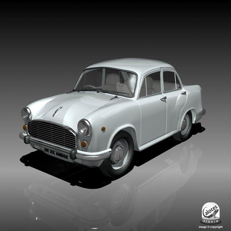 Ambassador Car 3D Model in Classic Cars 3DExport