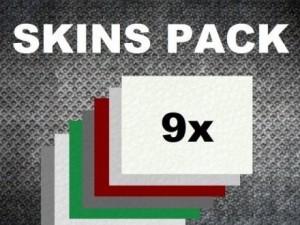COLORED SKIN PACK x9