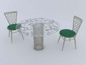 Arabesque round furniture