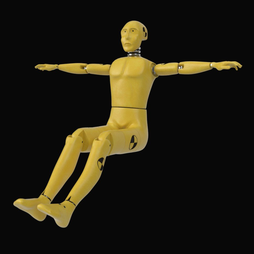 Crash Test Dummy 3d Model In Robot 3dexport Originally Posted By