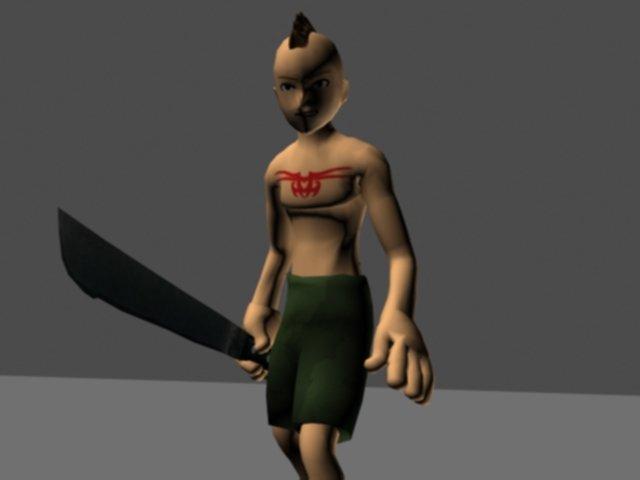Cartoon character style avatar rigged 3D Model in Cartoon 3DExport