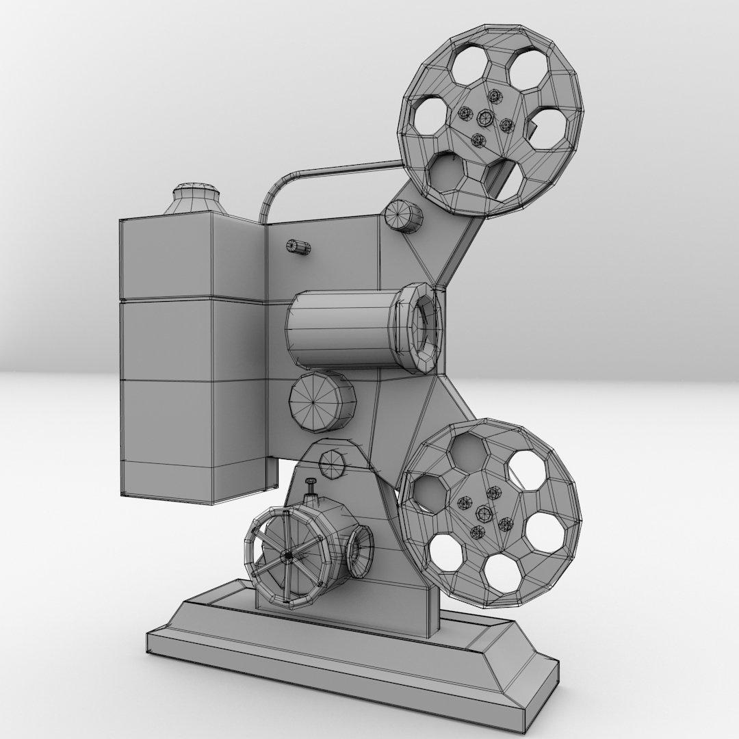 Film Projector 3D Model in Video 3DExport