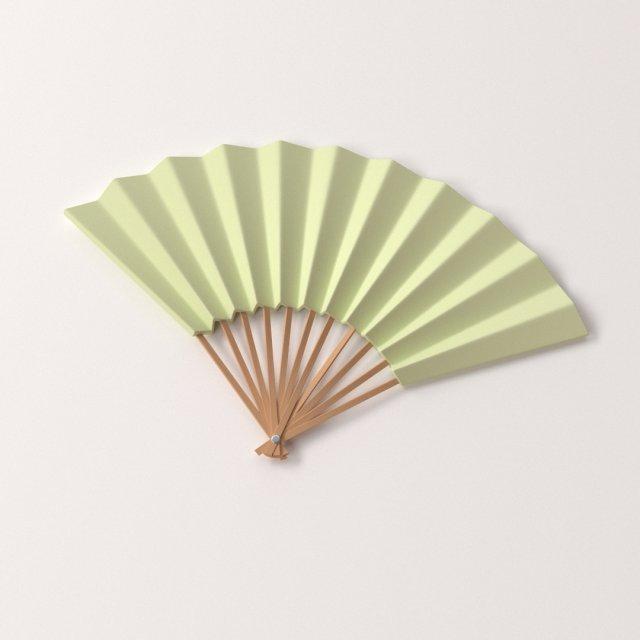 Paper Hand Fan 3D Model