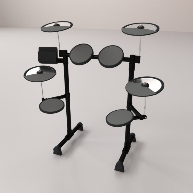 Electronic Drum 3D Model