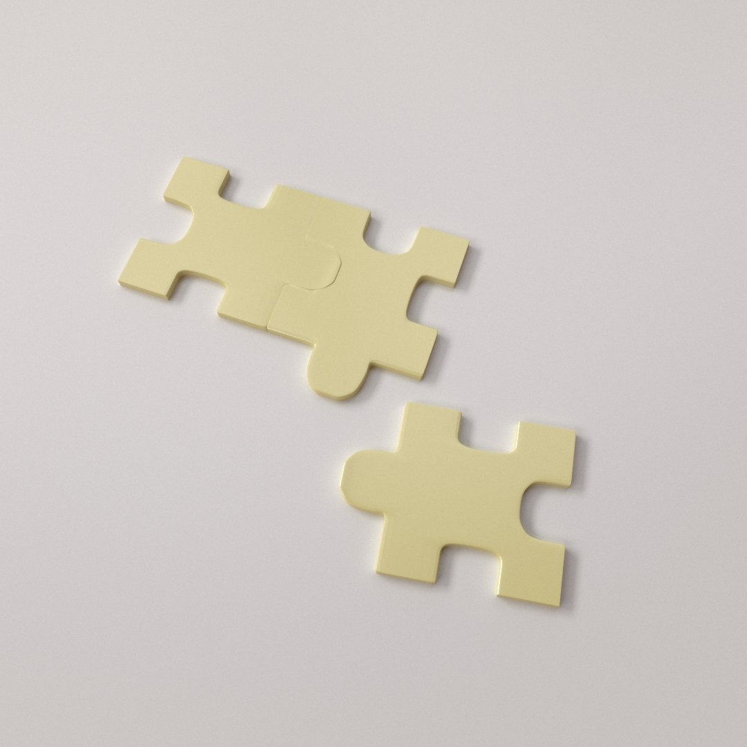 Puzzle Piece 3D Model In Board Games 3DExport