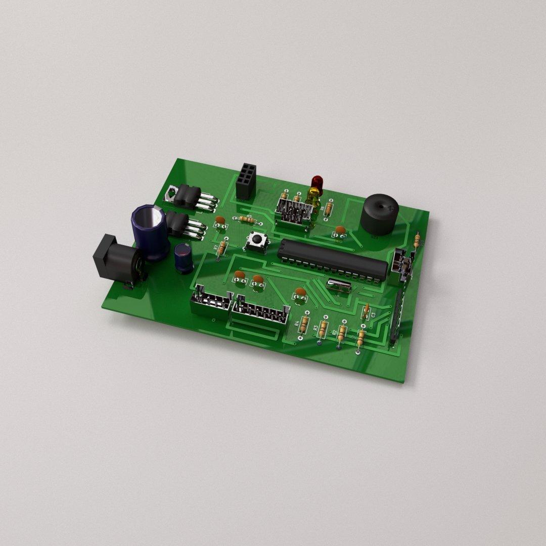 circuit board 3d model in parts 3dexport