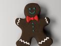 Gingerbread Man 3D Model