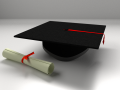 Mortarboard And Scrolls