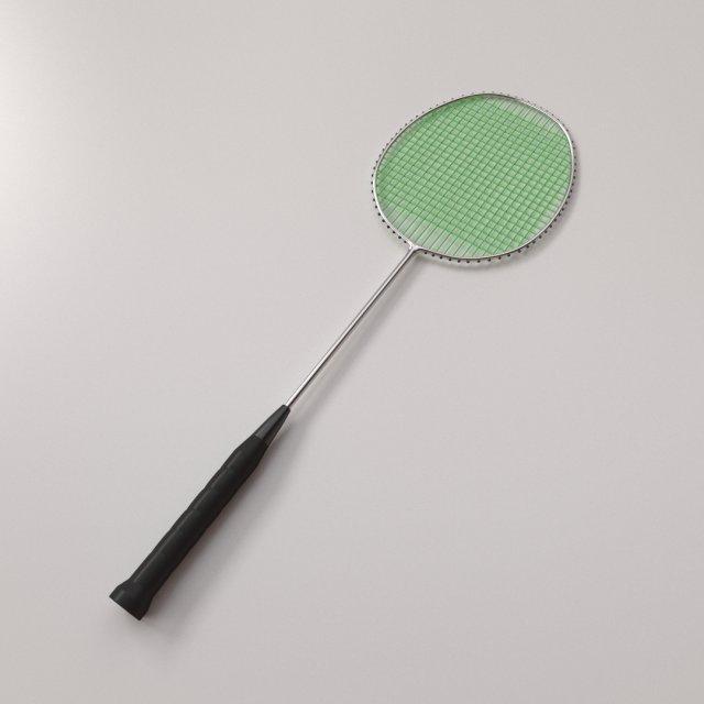 Badminton Racquet 3D Model