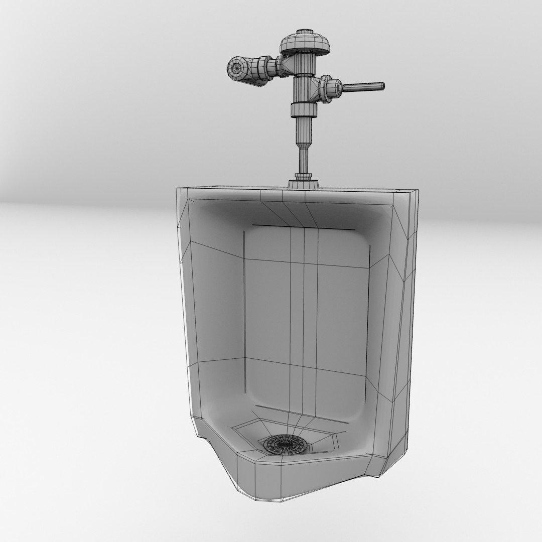 urinal 3d-modell in badezimmer 3dexport, Badezimmer ideen