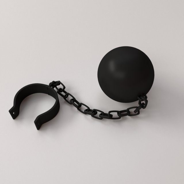 Ball and Chain 3D Model