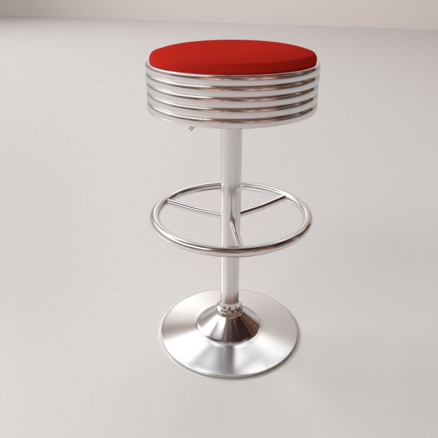 Bar Stool v3 3D Model