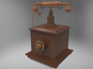 Wooden Nostalgic Telephone