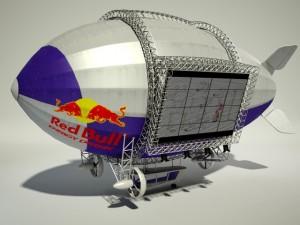 Advertising Zeppelin Red Bull