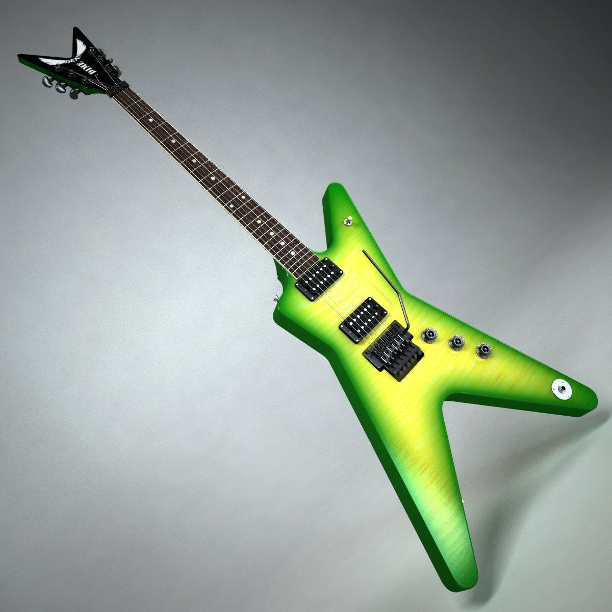 Dean Dimebag Darrell Guitar 3D Model in Guitar 3DExport
