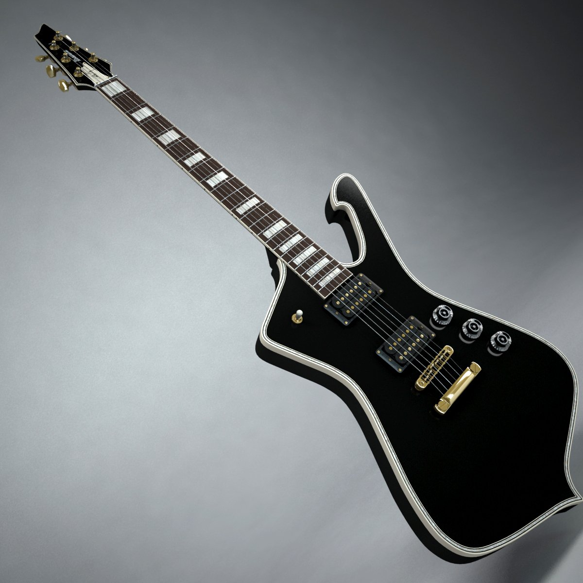 Ibanez IceMan Paul Stanley Guitar 3D Model in Guitar 3DExport