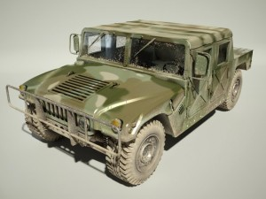 Hummer H1 Military Dirty