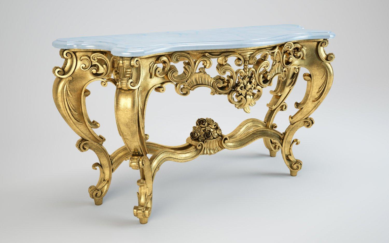 ITALIAN LOUIS XVI-STYLE CONSOLE TABLE 3D Model in Table 3DExport