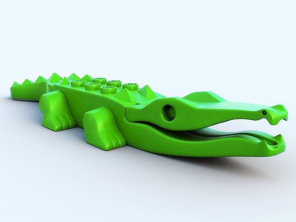 Lego crocodile 3D Model