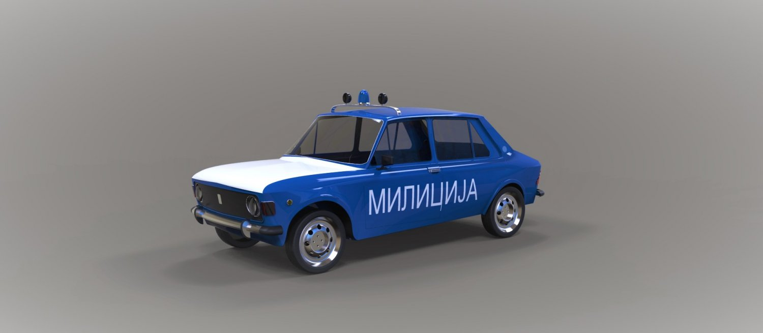 Zastava 101 Police Free 3d Model In Old Cars 3dexport