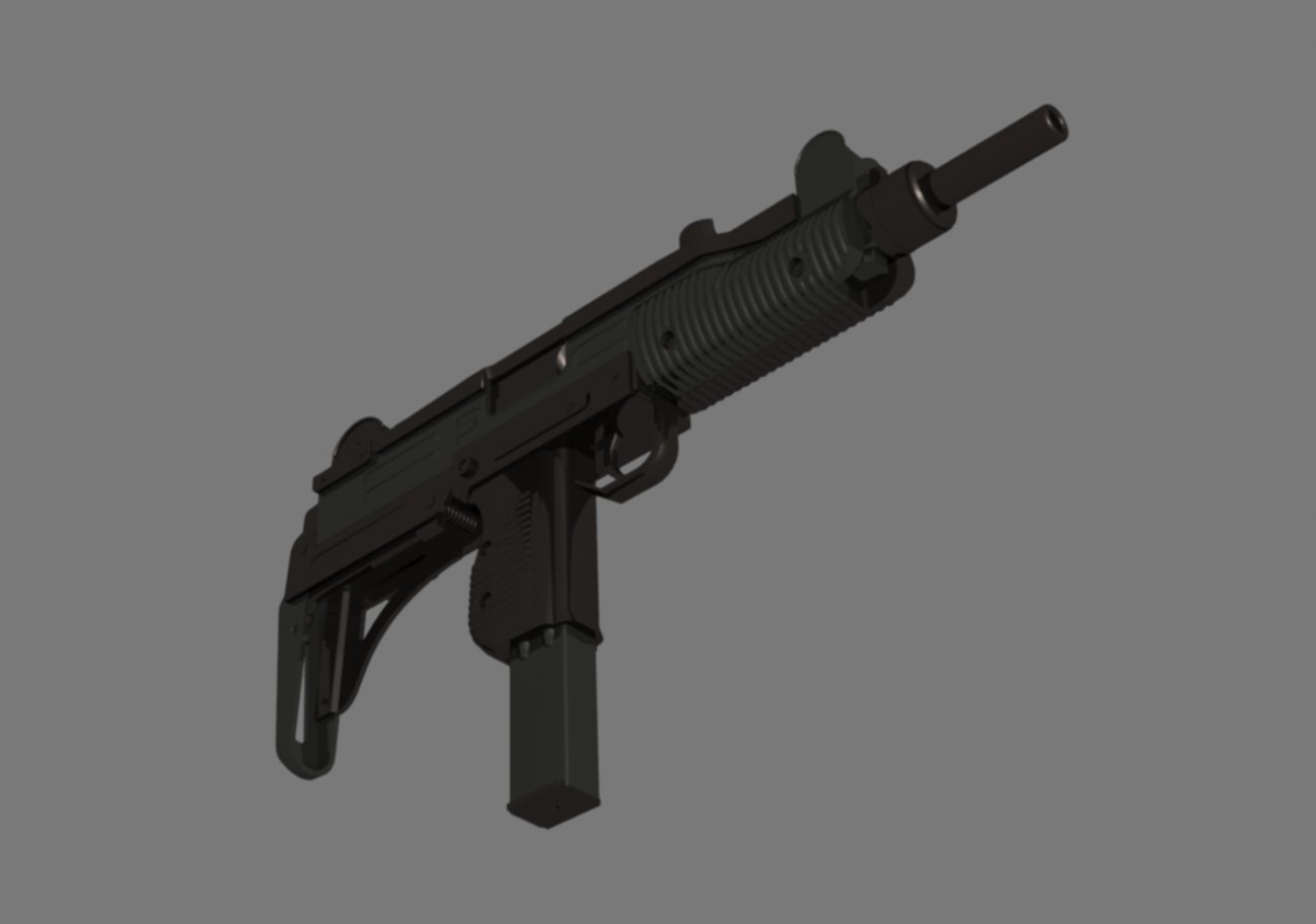 Uzi gun 3D Model in Machine Gun 3DExport