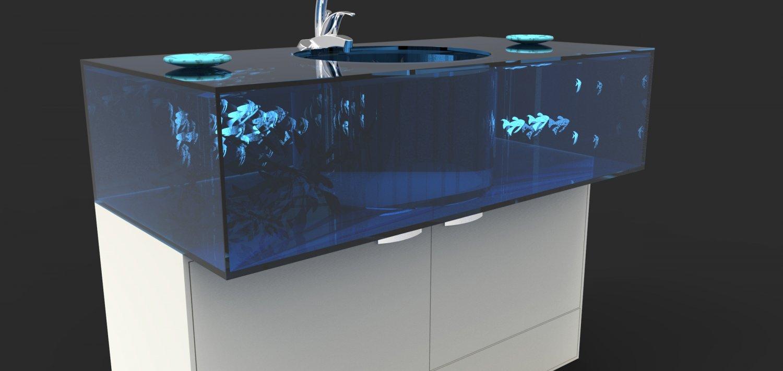 Aquarium sink Kostenlose 3D-Modell in Badezimmer 3DExport