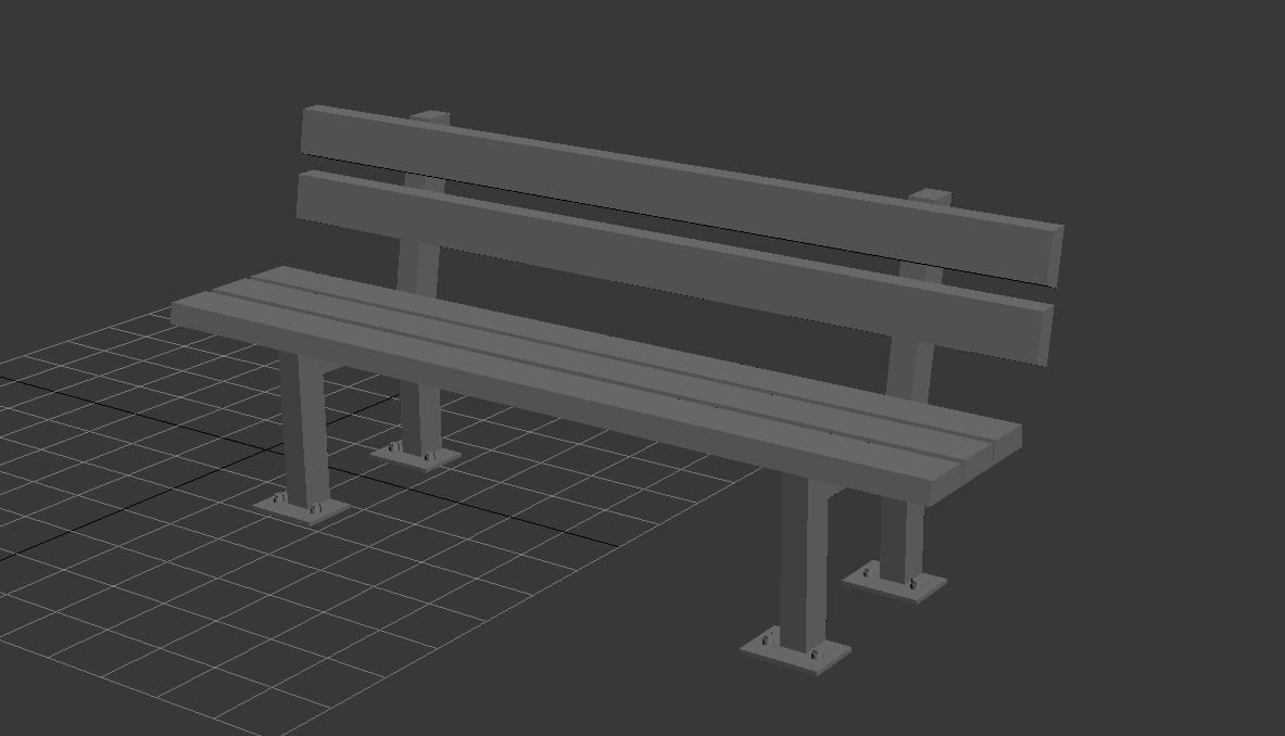 Park Bench Free 3D Model in Miscellaneous 3DExport