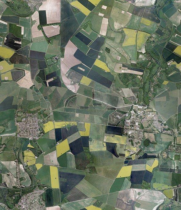 Aerial Fields Texture 3D Model in Landscapes 3DExport