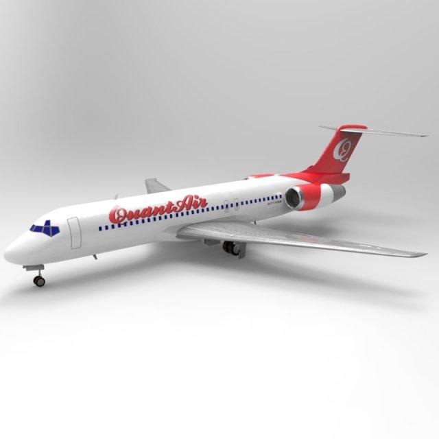 Airliner 717 3D Model