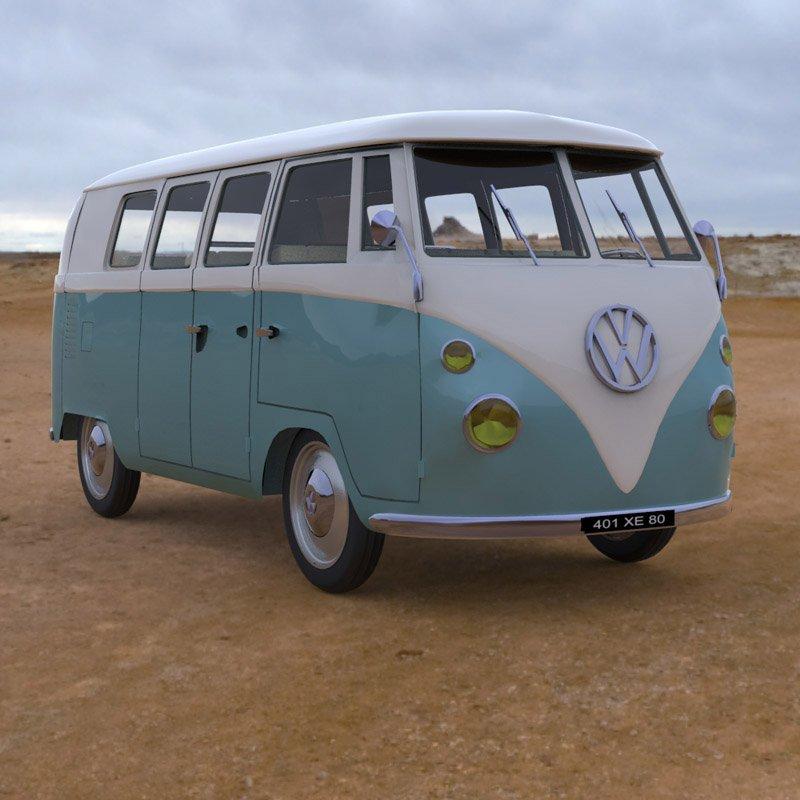 Volkswagen Combi 3D Model in SUV 3DExport