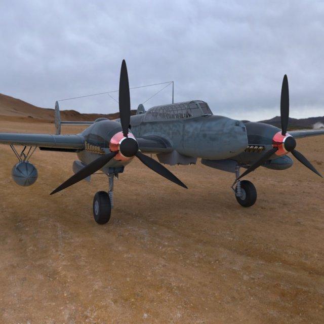 Messerschmitt BF 110 G2 3D Model