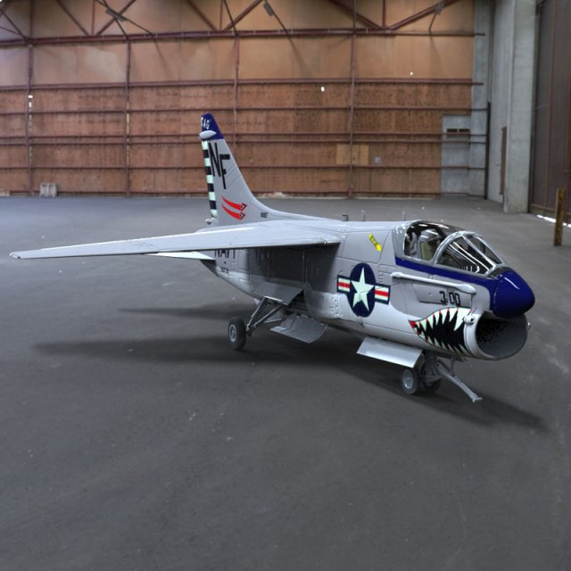 Corsair II 3D Model