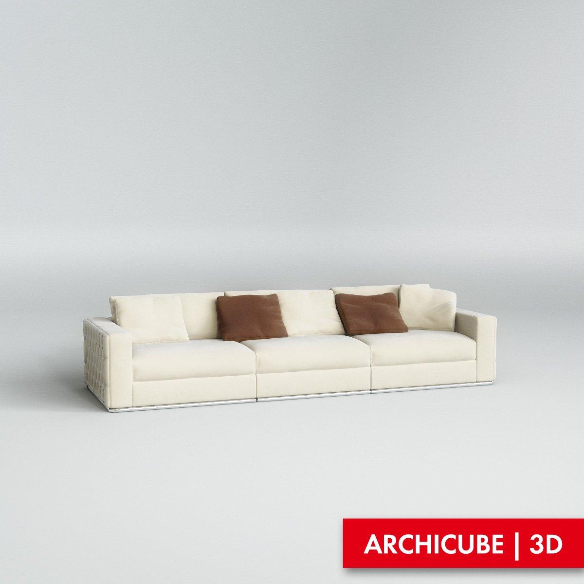 945fa0a2e487 Fendi Sofa 3D Model in Sofa 3DExport