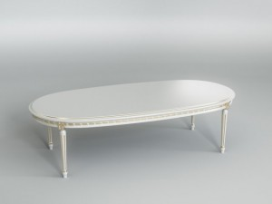 White dining table 002