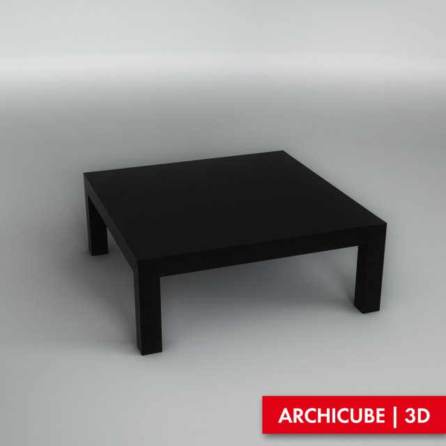 Black table 3D Model