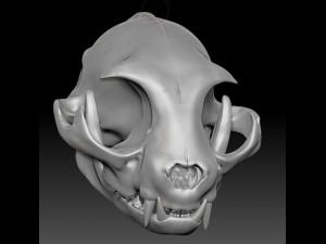 Cat Skull ZBrush Sculpture