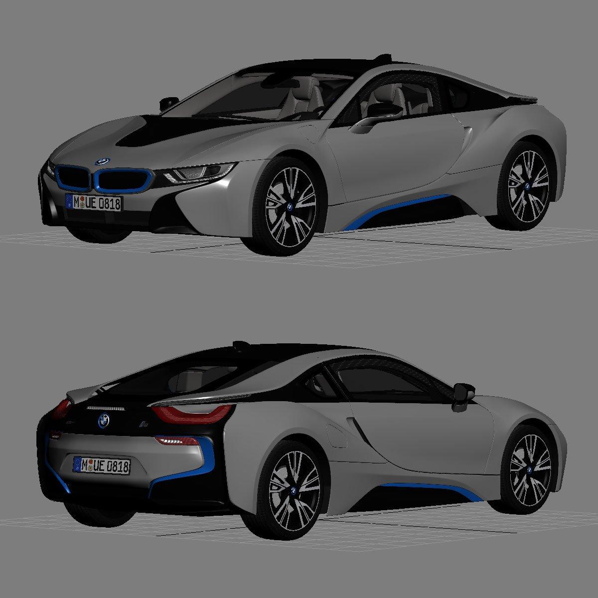 Bmw I8 2015 3d Model In Compact Cars 3dexport